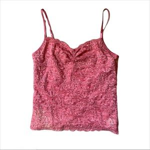 Express vintage pink lace tank top size medium